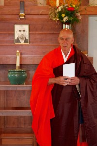 Shoken Winecoff Roshi, Abbot of Ryumonji and dharma heir of Dainin Katagiri Roshi Photograph by Bryan Hertenstein