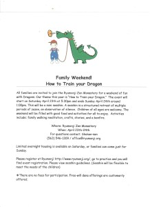 family weekend flyer
